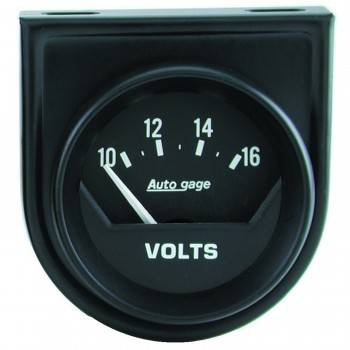 "Auto Meter - Auto Gage Electric Voltmeter Gauge - 2-1/16"""