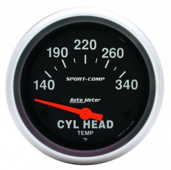 Auto Meter - Auto Meter Sport-Comp Electric Cylinder Head Temperature Gauge - 2-5/8 in.