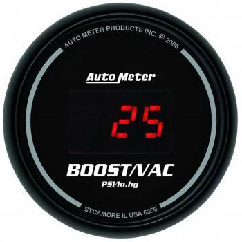 Auto Meter - Auto Meter Sport-Comp Digital Boost/Vacuum Gauge - 2-1/16 in.