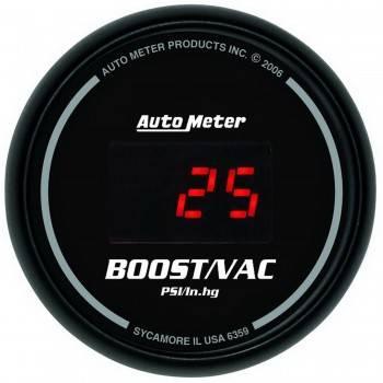 Auto Meter - Auto Meter Sport-Comp Digital Boost/Vacuum Gauge - 2-1/16 in.