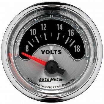 "Auto Meter - Auto Meter American Muscle Voltmeter Gauge - 2-1/16"""