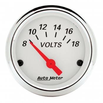 "Auto Meter - Auto Meter Arctic White Voltmeter Gauge - 2-1/16"""