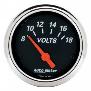 "Auto Meter - Auto Meter Designer Black Voltmeter Gauge - 2-1/16"""