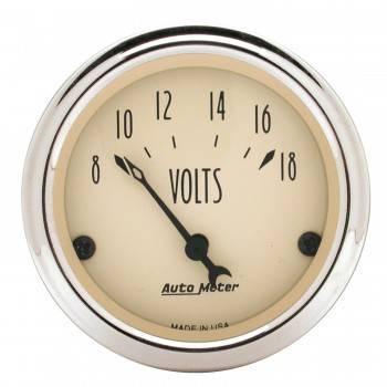 """Auto Meter - Auto Meter Antique Beige Voltmeter Gauge - 2-1/16"""""""