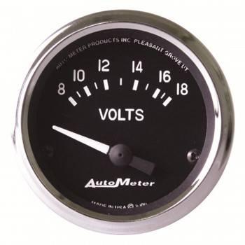 """Auto Meter - Auto Meter Cobra Electric Voltmeter Gauge - 2-1/16"""""""