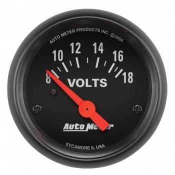"Auto Meter - Auto Meter Z-Series 2-1/16"" Voltmeter - 8-18 Volts"