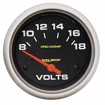 "Auto Meter - Auto Meter Pro Comp Electric Voltmeter Gauge - 2-5/8"" - 8-18 Volts"