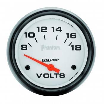 "Auto Meter - Auto Meter Phantom Voltmeter - 2-5/8"" - 8-18 Volts"