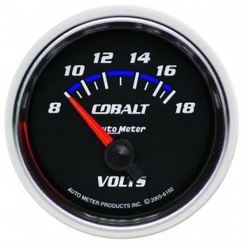 """Auto Meter - Auto Meter Cobalt Electric Voltmeter Gauge - 2-1/16"""""""
