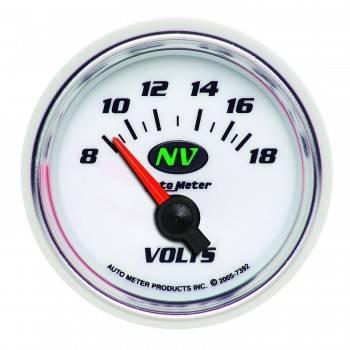 """Auto Meter - Auto Meter NV Electric Voltmeter Gauge - 2-1/16"""""""
