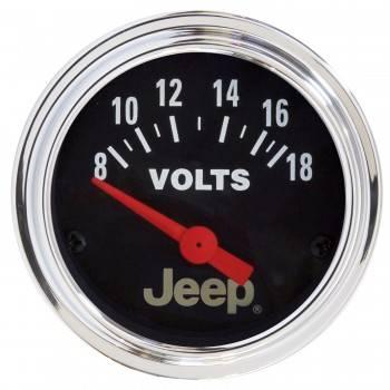 Auto Meter - Auto Meter 2-1/16 Voltmeter Gauge - Jeep Series