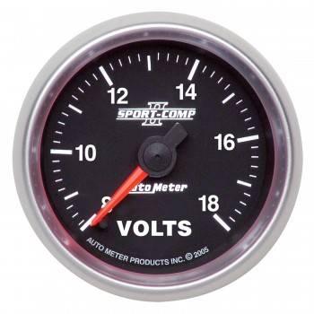 """Auto Meter - Auto Meter Sport-Comp II Electric Voltmeter Gauge - 2-1/16"""""""