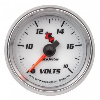 """Auto Meter - Auto Meter C2 Electric Voltmeter Gauge - 2-1/16"""""""