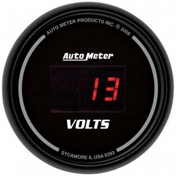 """Auto Meter - Auto Meter Sport-Comp Digital Voltmeter Gauge - 2-1/16"""""""