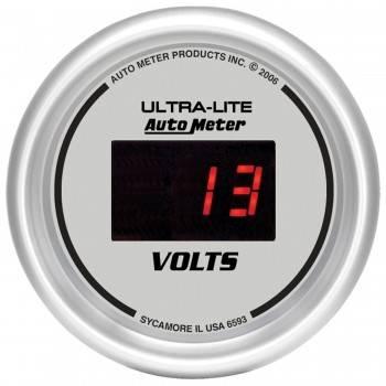 "Auto Meter - Auto Meter Ultra-Lite Digital Voltmeter Gauge - 2-1/16"""