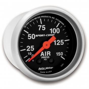 Auto Meter - Auto Meter Sport-Comp Mechanical Air Pressure Gauge - 2-1/16 in.