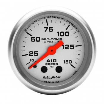 Auto Meter - Auto Meter Ultra-Lite Mechanical Air Pressure Gauge - 2-1/16 in.