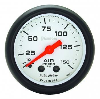 Auto Meter - Auto Meter Phantom Mechanical Air Pressure Gauge - 2-1/16 in.