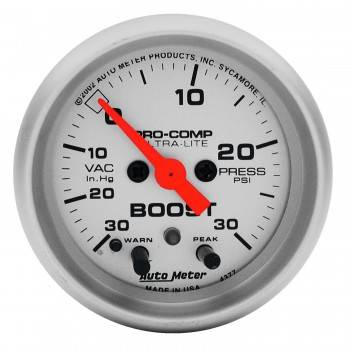 Auto Meter - Auto Meter Ultra-Lite Electric Boost/Vacuum Gauge - 2-1/16 in.