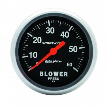 Auto Meter - Auto Meter Sport-Comp Mechanical Blower Pressure Gauge - 2-5/8 in.
