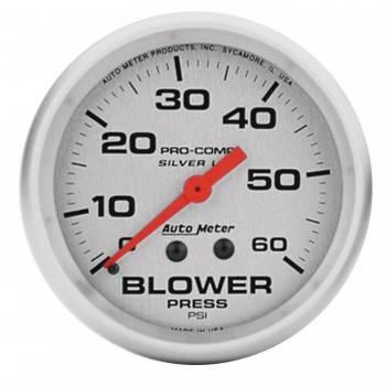 Auto Meter - Auto Meter Silver Pro-Comp Blower Pressure Gauge - 2-5/8 in.