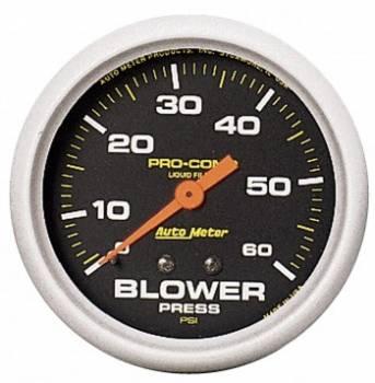Auto Meter - Auto Meter Pro-Comp Liquid-Filled Mechanical Blower Pressure Gauge - 2-5/8 in.