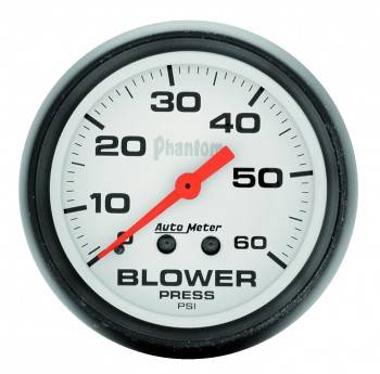 Auto Meter - Auto Meter Phantom Mechanical Boost Gauge - 2-5/8 in.