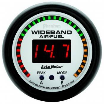 Auto Meter - Auto Meter Phantom Wide Band Air / Fuel Ratio Kit - 2-1/16 in.