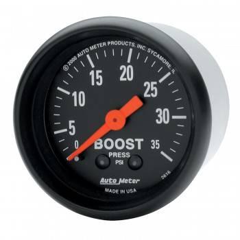 Auto Meter - Auto Meter Z-Series Mechanical Boost Gauge - 2-1/16 in.