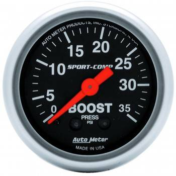 Auto Meter - Auto Meter Sport-Comp Mechanical Boost Gauge - 2-1/16 in.