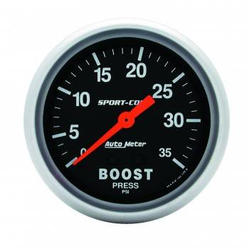 Auto Meter - Auto Meter Sport-Comp Mechanical Boost Gauge - 2-5/8 in.