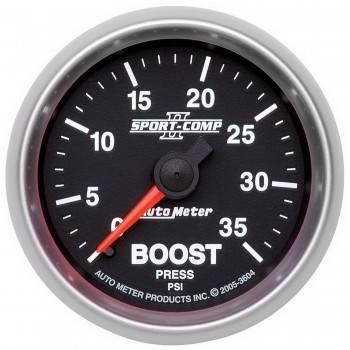Auto Meter - Auto Meter Sport-Comp II Mechanical Boost Gauge - 2-1/16 in.