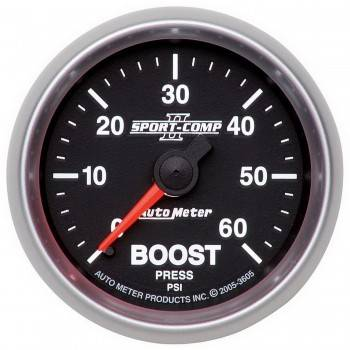 Auto Meter - Auto Meter Sport-Comp II Mechanical Boost Gauge - 2-1/16 in.