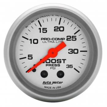 Auto Meter - Auto Meter Ultra-Lite Mechanical Boost Gauge - 2-1/16 in.