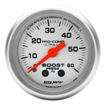 Auto Meter - Auto Meter Ultra-Lite Mechanical Boost Gauge - 2-1/16 in.