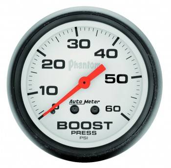 Auto Meter - Auto Meter Phantom Mechanical Boost Gauge - 2-1/16