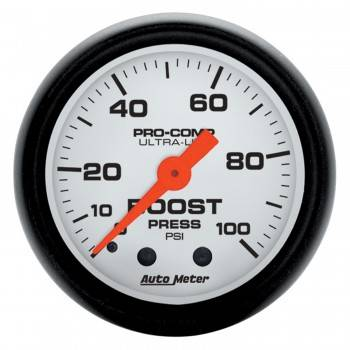Auto Meter - Auto Meter Phantom Mechanical Boost Gauge - 2-1/16 in.