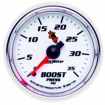 Auto Meter - Auto Meter C2 Mechanical Boost Gauge - 2-1/16 in.
