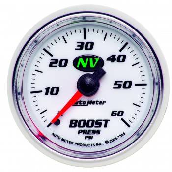 Auto Meter - Auto Meter NV Mechanical Boost Gauge - 2-1/16 in.