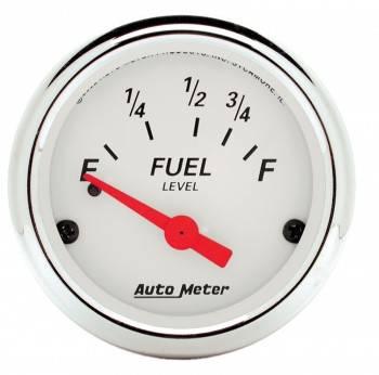 Auto Meter - Auto Meter Arctic White Fuel Level Gauge - 2-1/16 in.