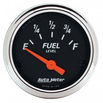 Auto Meter - Auto Meter 2-1/16 Designer Black Fuel Level Gauge 0-90 Ohms