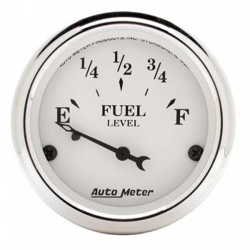 Auto Meter - Auto Meter Old Tyme White Fuel Level Gauge - 2-1/16 in.