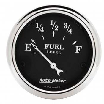 Auto Meter - Auto Meter Old Tyme Black Fuel Level Gauge - 2-1/16 in.