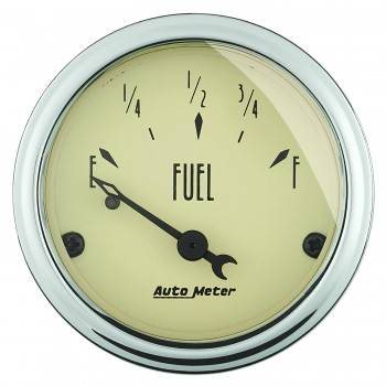 Auto Meter - Auto Meter Antique Beige Fuel Level Gauge - 2-1/16 in.