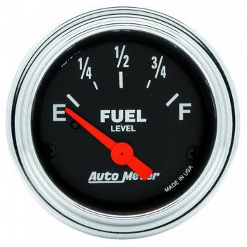 Auto Meter - Auto Meter Traditional Chrome Electric Fuel Level Gauge - 2-1/16 in.