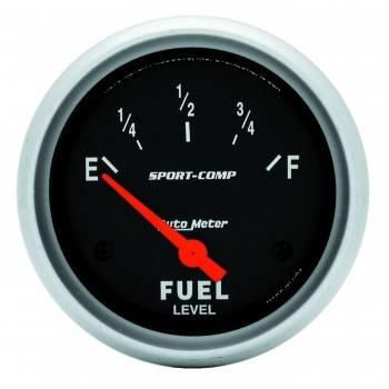 Auto Meter - Auto Meter Sport-Comp Electric Fuel Level Gauge - 2-5/8 in.