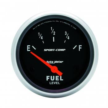 Auto Meter - Auto Meter Sport-Comp Electric Fuel Level Gauge - 2-5/8 in.