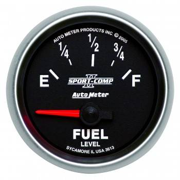 Auto Meter - Auto Meter Sport-Comp II Electric Fuel Level Gauge - 2-1/16 in.