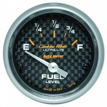 Auto Meter - Auto Meter Carbon Fiber Electric Fuel Level Gauge - 2-1/16 in.