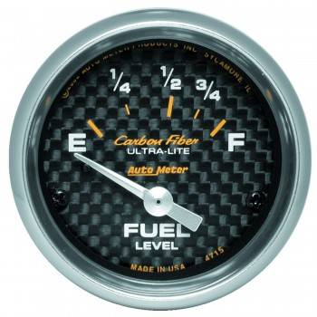 Auto Meter - Auto Meter Carbon Fiber Electric Fuel Level Gauge - 2-1/16 in.